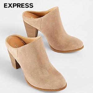 EXPRESS Heeled Slide Mule Booties